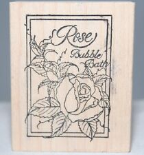 Rose Bubble Bath The Cottage Stamper Wood & Foam Backed Rubber Stamp