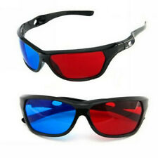 3D Vision Glasses Red Blue Dimensional Anaglyph Framed Plasma For TV Movie 1PC