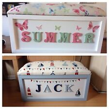 Personalised Handmade toy box/storage box.