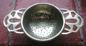 Antique Vintage Tea Strainer Silver  EPNS,