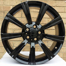 """20"""" GLOSS BLACK STORMER *LOAD RATED* ALLOY WHEELS & TYRES VW TRANSPORTER T5 + T6"""