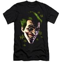 BATMAN ARKHAM ORIGINS JOKER GRIM Licensed Adult Men's Graphic Tee Shirt SM-6XL