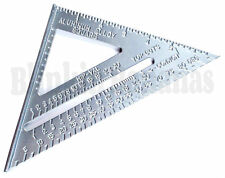 "7"" ROOFING SPEED SQUARE ALUMINIUM ALLOY RAFTER ANGLE MEASURE TRIANGLE GUIDE 27D"