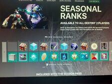 Destiny 2 Seasonal Pass Rank up X25 Levels ***Read Description***(PS4) (3 day)