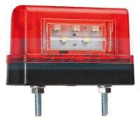 12V / 24V RED LED COMBINED REAR NUMBER PLATE AND MARKER LAMP LIGHT TRUCK TRAILER