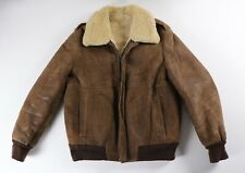 Vintage Shearling Bomber Jacket Size 40 Texas Tanning Ft Worth