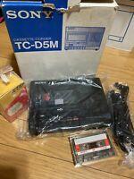 """Vintage Sony TC-D5M Portable Stereo Cassette Recorder """"DENSUKE"""" with Box"""