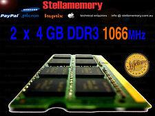 Toshiba 8GB 2x 4GB DDR3 1066Mhz memory Laptop Ram