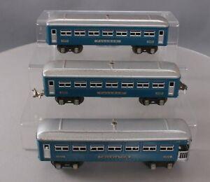 Lionel 1630S Vintage O 3-Car Pullman Set (Blue w/Silver Trim)