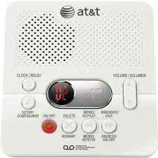 Digital Answering System Machine With Time And Day Stamp Color White By AT&T New