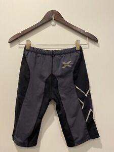 Mens 2XU Compression Shorts Grey Mid Length Size S