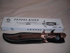 SHIPS HANDLE FENFEI FIXED BLADE KNIFE -NEW BOXED