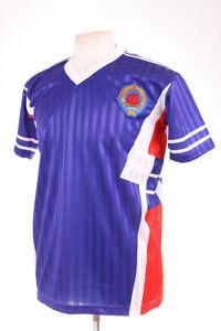 YUGOSLAVIA BLUE ITALIA 90 1990 RETRO REPLICA FOOTBALL SHIRT XL EXTRA LARGE