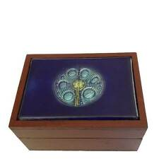 Labyrinth Blue Fused Glass Box - Handmade in Ecuador - Fair Trade