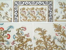 BAROQUE Wallpapers Fabrics Chateau Cheverny - A. RACINET Color Lithograph Print