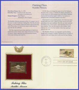 USA7 #2549 U/A GOLDEN REPLICA FDC   Fishing Flies Muddler Minnow