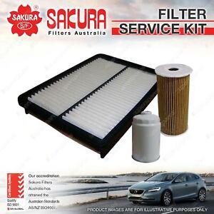 Sakura Oil Air Fuel Filter Service Kit for Kia Sorento XM 2.2L CRDi 10/09-09/12