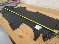 Black Fine Antique Grain Cow Side Leather 1.5mm Thick Good Quality Genuine EB122