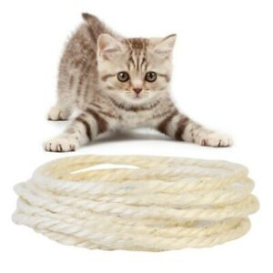 5 Meter DIY Cat Scratching Post Natrual Cordage Twisted Sisal Rope Funny Pet Toy