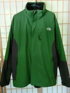 The North Face Men's HyVent Hooded 3-in-1 Snow Ski Jacket Green / Black  XL