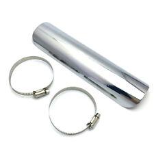 Exhaust Muffler Pipe Heat Shield Cover Heel Guard Chrome For Harley Chopper SU