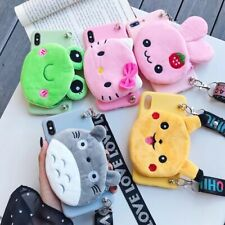 Cute Cartoon Animal Cloth Wallet Coin Purse Cosmetic Bag Case For OPPO iPhone