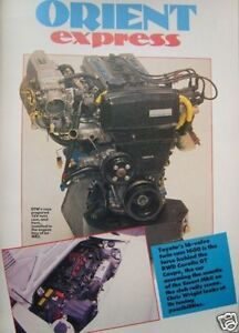 TOYOTA  MR2 Mk1 4AGE ENGINE TUNING / TWEAKS & SERVICING GUIDE. 1600cc 16v AW11