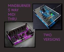 More details for mindburner midi classic 5 way midi thru splitter, blue / purple