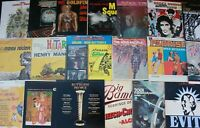 Lot of 70-80s Soundtracks (6) Records lp Vinyl Music Mix Original Movies NM