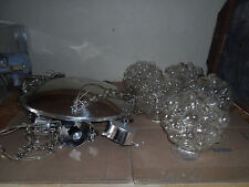 Vintage 70s Atlas Lighting Glass Bubble Light Celiling Chain Chandelier Bubbles