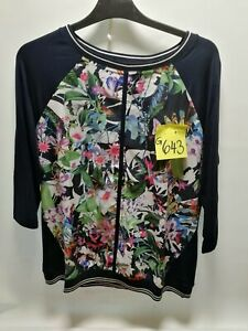 BETTY BARCLAY Damen 3/4-Arm-Shirt schwarz bunt Muster Gr. 40