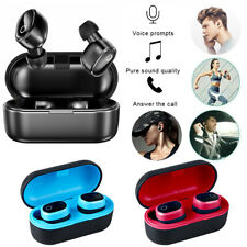 Bluetooth 5.0 True Wireless Earbuds Sports Headsets Stereo Headphones Waterproof