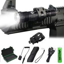 368Yard LED Hunting Light Tactical Flashlight Torch Lamp USB Scope Mount 18650