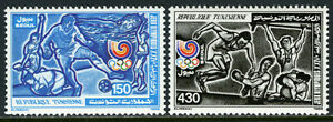 Tunisia 942-943, MI 1174-1175, MNH. Olympics, Seoul. Soccer,swimming,boxing,1988