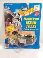 "NIP 1995 Mattel Hot Wheels ""Metallic Paint"" Action Cycle #8345"