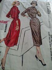 "Vintage McCalls Sewing Pattern 3784-Misses ""Instant Dress"" Size 13/Bust 33"" Rare"