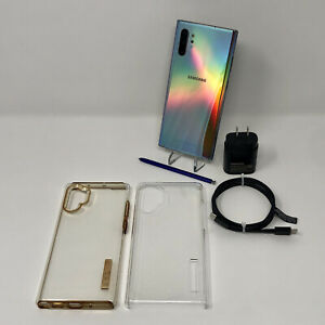 💥Samsung Galaxy Note 10+💥(Plus) 256GB Aura Glow w/Charger & Case Network: AT&T