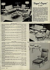 1957 PAPER AD 3 PG Lloyd Mid Century Couch Chair Table Dinning Room Furniture