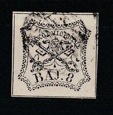 FRANCOBOLLI - 1852 STATO PONTIFICIO 8 BAJ Z/8575