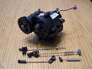 Traxxas 3.3 Revo Transmission 38t Spur Gear Slipper Brake & Linkage Tranny 5491