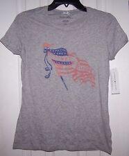 New listing Tommy Hilfiger Grey Shirt Top American Flag Sz S Missy Nwt