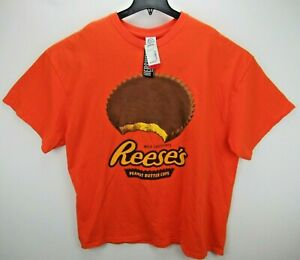 NWT Reese's Peanut Butter Cups Size 3XL T Shirt Orange NEW
