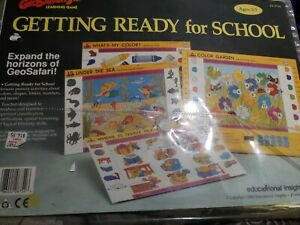 Geosafari getting ready for school cards  EI-8754 Vintage 1991 Lessons 1-20