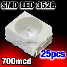 135/25# LED Rouge CMS 3528  PLCC-2 SMD red 25pcs   ----->700mcd  - TL