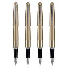 4 pc Pilot Metropolitan Fountain Pen Gold/Silver +Ink Cartridge 91110 Medium Nib