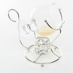 Brandy Cognac Warmer Set  inc Glass and Candle in Silver Plated Frame