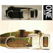 "UKOM ONIE 25mm (1"") Military Spec Dog Collar with Metal Cobra Buckle - One Size"