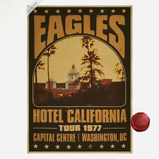 Eagle Band Hotel California Poster Brown Paper Poster Bar Room Cafe Decor A167