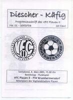 BL Chemnitz 2002/2003 VFC Plauen II - FSV Krumhermersdorf, 08.03.2003