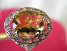 2.60ct FLAWLESS CITRINE VINTAGE STYLE FILIGREE RING! BEAUTIFUL COLOR  AND BIG!!